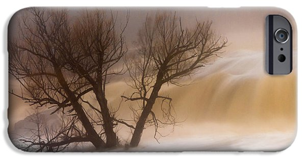 Fog Mist iPhone Cases - Against The Current iPhone Case by Mary Amerman