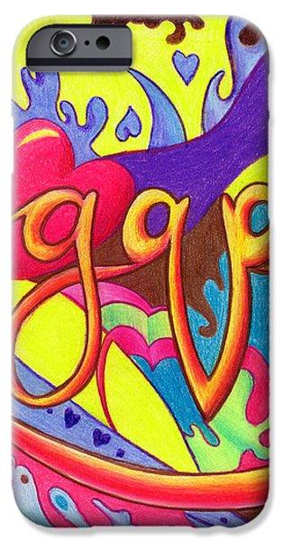 AGAPE iPhone Case by Nancy Cupp