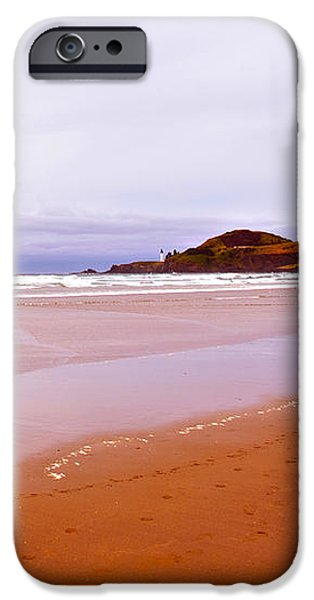 Agate Beach Oregon with Yaquina Head Lighthouse iPhone Case by Artist and Photographer Laura Wrede