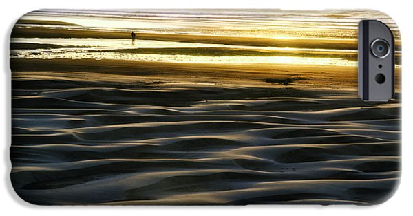 Agate Beach Oregon iPhone Cases - Agate Beach Sunset iPhone Case by Thomas Chamberlin