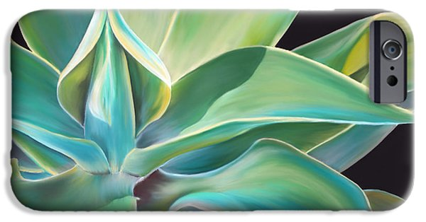 Plant Pastels iPhone Cases - Agave 2 iPhone Case by Laura Bell