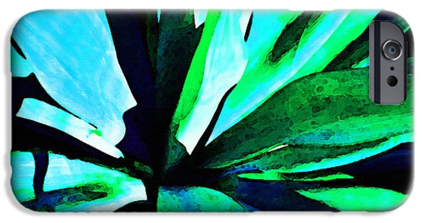 Nectar iPhone Cases - Agave - High Contrast Art By Sharon Cummings iPhone Case by Sharon Cummings