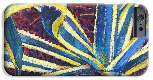 Abstractions Pastels iPhone Cases - Agave II iPhone Case by David Randall