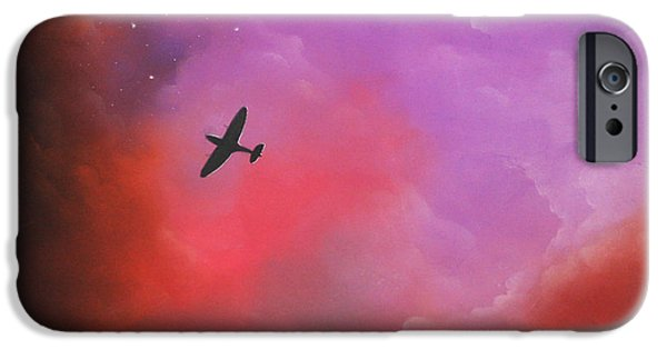 Clouds Pastels iPhone Cases - Age of Heroes iPhone Case by Chris Mackie