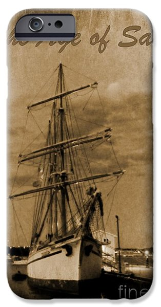 Age of Sail Poster iPhone Case by John Malone Halifax photographer