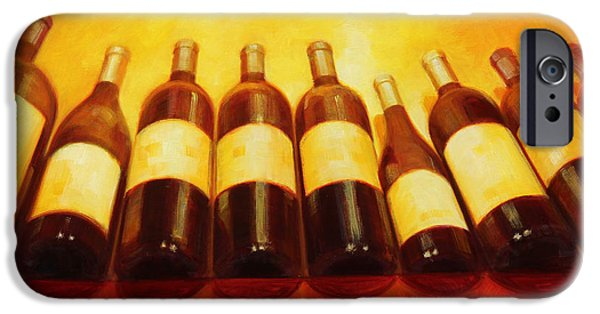 Wine Reflection Art iPhone Cases - Age Worthy iPhone Case by Penelope Moore
