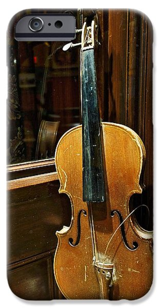 Popular iPhone Cases - Aged Violin iPhone Case by Joan Reese
