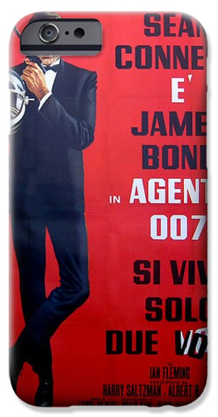 Police iPhone Cases - Agente 007 Si Vive Solo Due Volte iPhone Case by Nomad Art And  Design