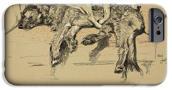 Dog iPhone Cases - Agglomeration iPhone Case by Cecil Charles Windsor Aldin
