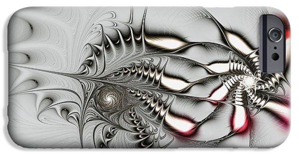 Malakhova Mixed Media iPhone Cases - Aggressive Grey iPhone Case by Anastasiya Malakhova