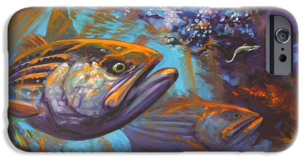 Sporting Paintings iPhone Cases - Aggressive Intentions iPhone Case by Mike Savlen