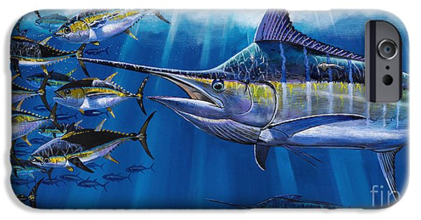 Swordfish iPhone Cases - Agressor Off00140 iPhone Case by Carey Chen
