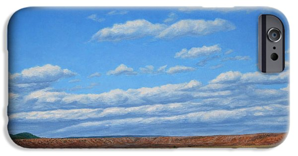 Western Landscape iPhone Cases - Grazing iPhone Case by James W Johnson