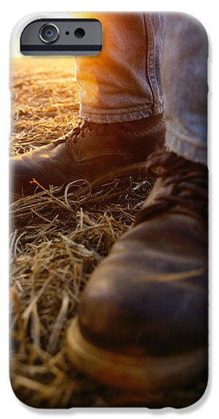 Agriculture iPhone Cases - Agriculture - Closeup Of A Farmers iPhone Case by Andrew Sacks