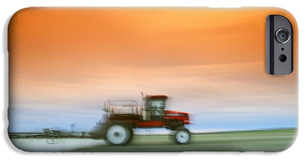 Dave iPhone Cases - Agriculture - Motion Study Of A Case Ih iPhone Case by Dave Reede