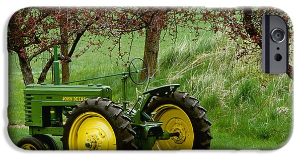 Antiques iPhone Cases - Agriculture - Restored 1940 John Deere iPhone Case by Chuck Haney