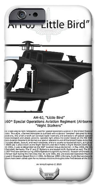AH-6J Little Bird iPhone Case by Arthur Eggers
