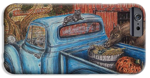 Recently Sold -  - Old Barn Drawing iPhone Cases - Ahh...The Good Life iPhone Case by Kim Jones