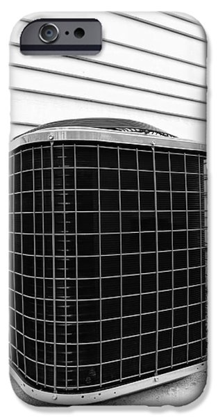 Appliance iPhone Cases - Air Conditioner Condenser iPhone Case by Olivier Le Queinec