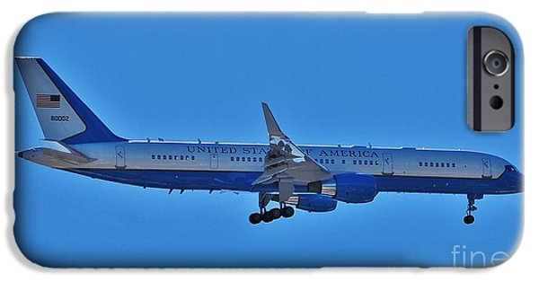 President iPhone Cases - Air Force 1 - 16x9 Ratio iPhone Case by Bob Sample