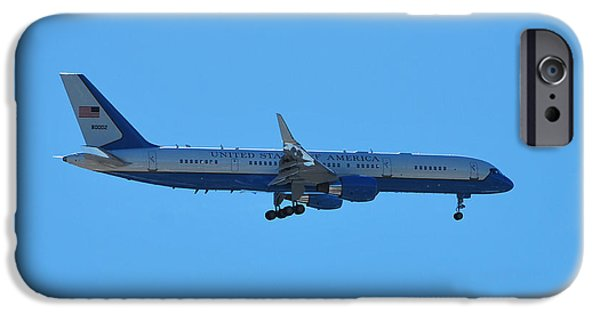 President iPhone Cases - Air Force 2 iPhone Case by Bob Sample