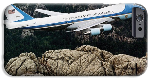 Air Force One iPhone Cases - Air Force One iPhone Case by Celestial Images