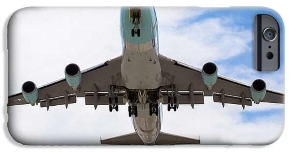 Air Force One iPhone Cases - Air Force One Flyover iPhone Case by John Daly