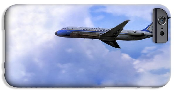 Barack Obama iPhone Cases - Air Force One - McDonnell Douglas - DC-9 iPhone Case by Jason Politte