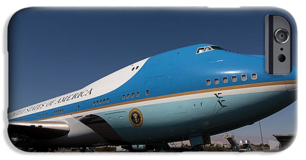 Air Force One iPhone Cases - Air Force One PSP iPhone Case by John Daly