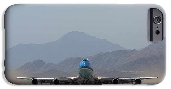 Air Force One iPhone Cases - Air Force One Takeoff iPhone Case by John Daly