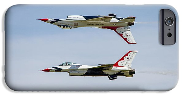 Bill Gallagher iPhone Cases - Air Force Thunderbirds iPhone Case by Bill Gallagher