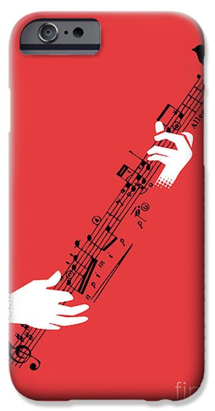 Note iPhone Cases - Air guitar string instrument iPhone Case by Budi Satria Kwan