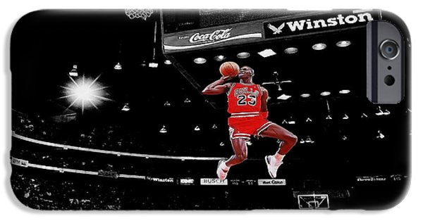 Hoops iPhone Cases - Air Jordan iPhone Case by Brian Reaves