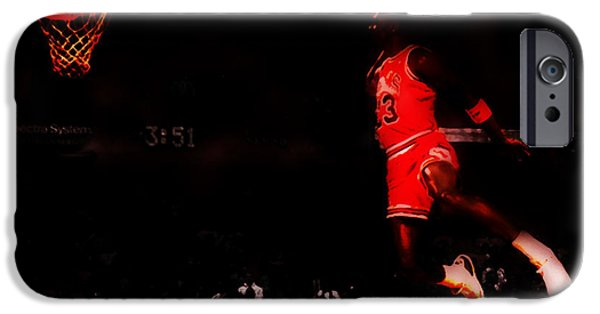 Dunk Paintings iPhone Cases - Air Jordan Crusing Altitude iPhone Case by Brian Reaves