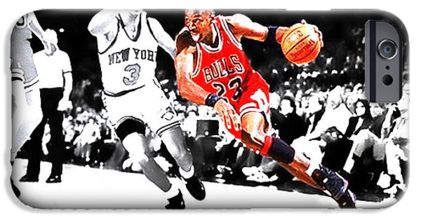 Carmelo Anthony iPhone Cases - Air Jordan Drive iPhone Case by Brian Reaves