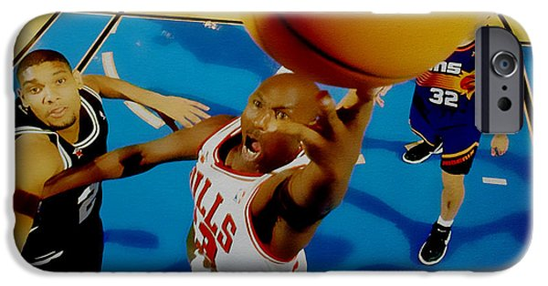 Michael Mixed Media iPhone Cases - Air Jordan Easy Two iPhone Case by Brian Reaves