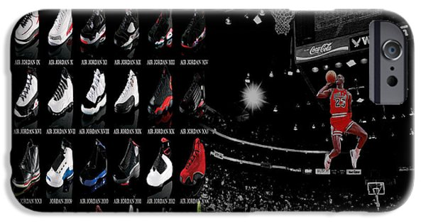 Carmelo Anthony iPhone Cases - Air Jordan History of Flight iPhone Case by Brian Reaves