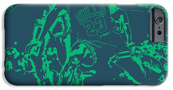 Carmelo Anthony iPhone Cases - Air Jordan Hitting the Brakes iPhone Case by Brian Reaves