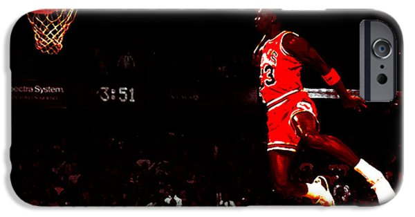 Dunk iPhone Cases - Air Jordan in Flight III iPhone Case by Brian Reaves