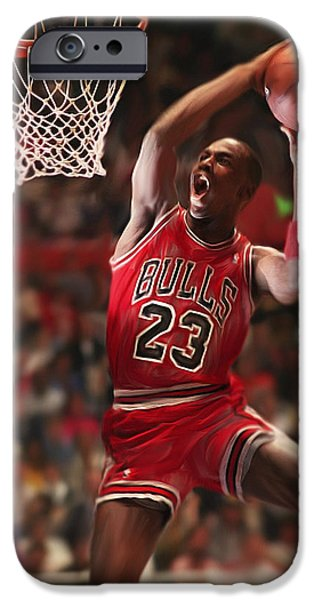 Michael Mixed Media iPhone Cases - Air Jordan iPhone Case by Mark Spears