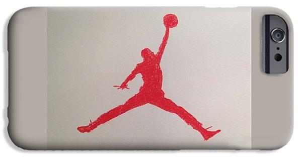Nike Drawings iPhone Cases - Air Jordan iPhone Case by Peter Virgancz