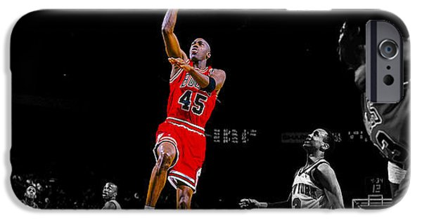 Carmelo Anthony iPhone Cases - Air Jordan Return from Retirement iPhone Case by Brian Reaves