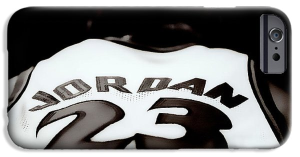 Michael Mixed Media iPhone Cases - Air Jordan Six Seconds Left iPhone Case by Brian Reaves