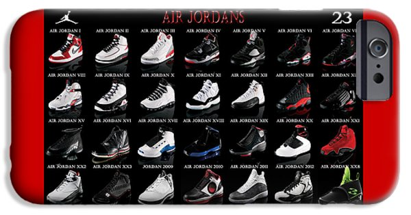 Michael iPhone Cases - Air Jordan Shoe Gallery iPhone Case by Brian Reaves
