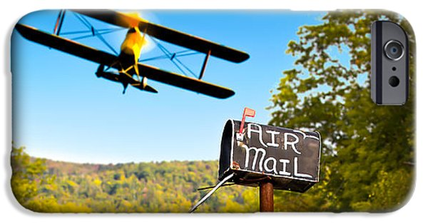 Rural Maine Roads iPhone Cases - Air Mail Delivery Maine Style iPhone Case by Bob Orsillo