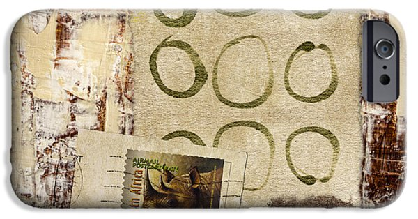 Collage iPhone Cases - Air Mail South Africa iPhone Case by Carol Leigh