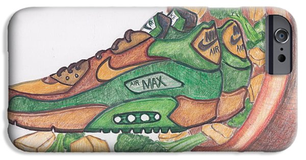 Nike Drawings iPhone Cases - Air Max 90 CNB iPhone Case by Dallas Roquemore