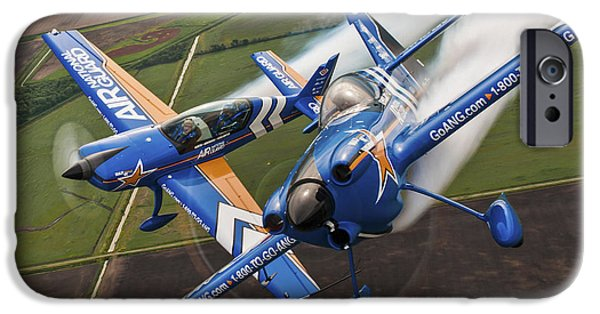 Aeronautics iPhone Cases - Air National Guard Aerobatics iPhone Case by Adam Romanowicz