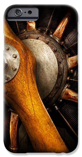 Mechanics Photographs iPhone Cases - Air - Pilot - You got props iPhone Case by Mike Savad