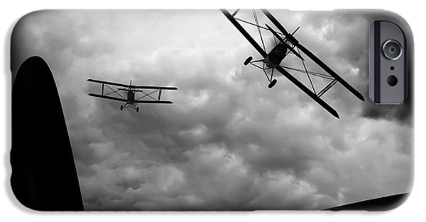 World War One iPhone Cases - Air Pursuit iPhone Case by Bob Orsillo